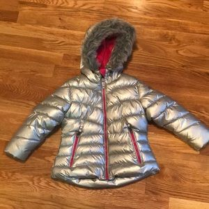 Winter silver puffer coat
